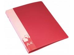 Папка на 2-х кольцах Бюрократ -0818/2R A4 пластик 0.7мм кор.18мм внут.и торц.карм, цвет красный