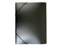 Папка на резинке Бюрократ -PR05 A4 пластик кор. 30мм 0.5мм, цвет черный