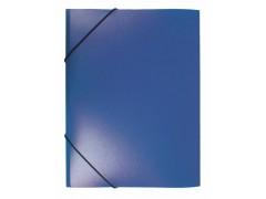 Папка на резинке Бюрократ -PR05 A4 пластик кор. 30мм 0.5мм, цвет синий
