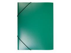 Папка на резинке Бюрократ -PR05 A4 пластик кор. 30мм 0.5мм, цвет зеленый