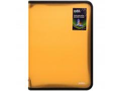 Папка на молнии с 3х сторон COLOURPLAY Light, ф. А4 (325х230мм), 0,5мм, прозрачная, оранжевая, арт. IZF70/OR