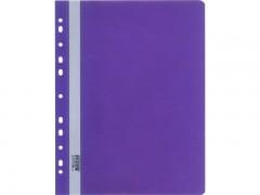 Папка-скоросшиватель Silwerhof Classic 255117, A4 прозрач.верх.лист боков.перф., 0.12/0.18мм, цвет фиолетовый
