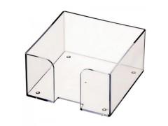 Подставка для бумажного блока, разм. 9х9х5 см, прозрачная, арт. ПЛ61