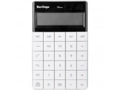 Калькулятор настольный 12 разрядов, двойное питание, 165*105*13 мм, цвет белый