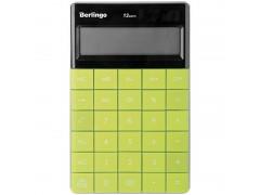 Калькулятор настольный 12 разрядов, двойное питание, 165*105*13 мм, цвет зеленый