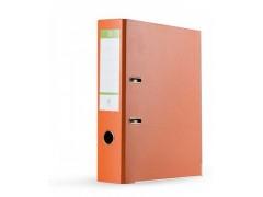 Папка-регистратор 75 мм, А4, ПВХ Эко, YESЛи,  цвет оранжевый