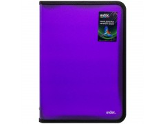 Папка на молнии с 3х сторон COLOURPLAY Light, ф. А4 (325х230мм), 0,5мм, прозрачная, фиолетовая, арт. IZF70/VL