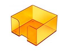 """Подставка для бумажного блока, разм. 9х9х5 см, тонированная """"Манго"""", арт. ПЛ53"""