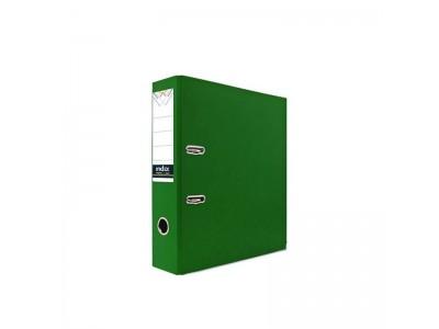 Папка-регистратор 80 мм, PVC, зеленая, с металлической окантовкой, арт. IND 8/24 PVC NEW ЗЕЛ