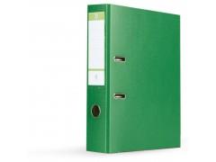 Папка-регистратор 75 мм, А4, ПВХ Эко, YESЛи,  цвет зеленый