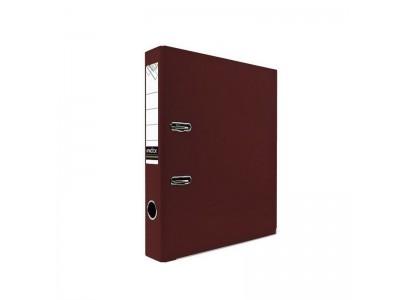 Папка-регистратор 50 мм, PVC, с металлической окантовкой, арт. IND 5/30 PVC NEW, цвет бордовый