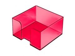 """Подставка для бумажного блока, разм. 9х9х5 см, тонированная """"Вишня"""", арт. ПЛ51"""