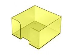 """Подставка для бумажного блока, разм. 9х9х5 см, тонированная """"Лайм"""", арт. ПЛ50"""