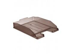 Лоток для бумаг ЭКСПЕРТ, горизонтальный, тонированный коричневый