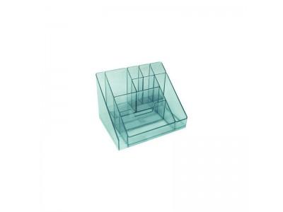 Подставка для канц. принадлежностей КАСКАД, арт. ОР15, тонированная голубая
