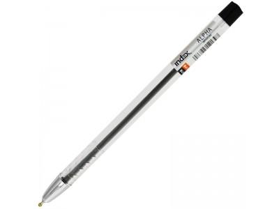 Ручка шариковая ALPHA, прозрачный корпус, метал. наконечник, 0,7мм, масл. чернила, арт. IBP305, цвет чернил черный