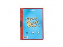 Папка DURAQUICK, Durable, с прозрачным верхним листом и клипом, на 20 листов, арт.2270, цвет красный