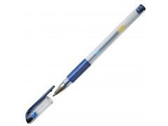 Ручка гелевая, 0,5 мм, резиновый упор, цвет синий