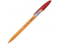 Ручка шариковая I-NOTE, пластиковый желтый корпус, 0,5мм, арт. IBP303, цвет красный