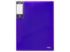 Папка с пружинным скоросшивателем и карманом COLOURPLAY Light, ф.A4, 0,6мм, прозрачная, фиолетовая, арт. ICLC05/VL