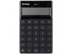 Калькулятор настольный 12 разрядов, двойное питание, 165*105*13 мм, цвет антрацит