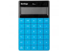 Калькулятор настольный 12 разрядов, двойное питание, 165*105*13 мм, цвет синий