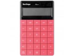 Калькулятор настольный 12 разрядов, двойное питание, 165*105*13 мм, цвет темно-розовый
