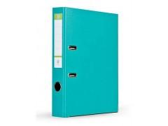Папка-регистратор 75 мм, А4, ПВХ Эко, YESЛи,  цвет бирюзовый