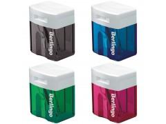 Точилка пластиковая Berlingo, 1 отверстие, контейнер, ассорти BBp_10039