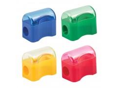 """Точилка пластиковая """"Сундучок"""", 1 отверстие, контейнер, ассорти"""