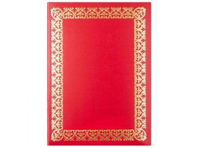 Папка ХУДОЖЕСТВЕННАЯ РАМКА №1 (широкая), бумвинил, ф. А4, красная, арт. АПБ4-001