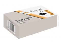 Зажим для бумаг, 19 мм, 12шт, черный, арт. 065000201