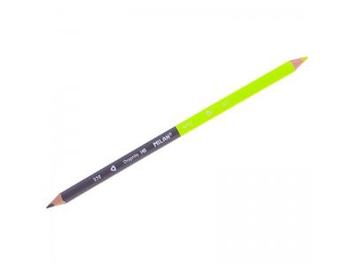 Карандаш двухцветный Milan, трехгран., заточен., чернографитный-неоновый, арт. 07323812