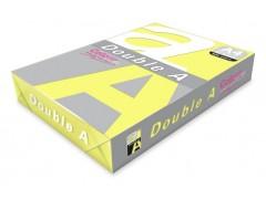 Бумага цветная DOUBLE A, А4, 80 г/м, 100 листов, цвет желтый