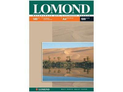 Бумага А4 для стр. принтеров Lomond, 140г/м2 (100л) мат.одн., арт. 0102074