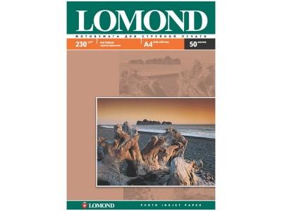 Бумага А4 для стр. принтеров Lomond, 180г/м2 (50л) мат.одн., арт. 0102014