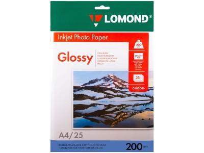 Бумага А4 для стр. принтеров Lomond, 200г/м2 (25л) гл.одн., арт. 0102046
