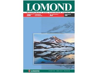 Бумага А4 для стр. принтеров Lomond, 200г/м2 (50л) гл.одн., арт. 0102020