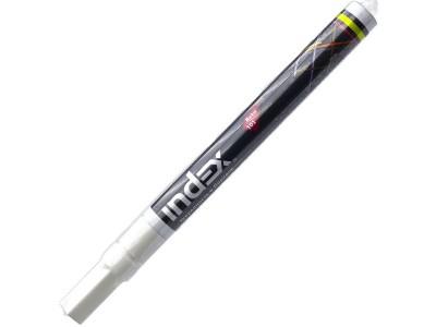 Маркер лаковый, тонкий алюминиевый корпус, цвет - белый, арт. IPM101/WH
