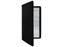 Визитница на 144 визитки, разм. 20 x 11,5 см, пластик, Index, черный