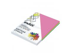 Бумага цветная, Index Color, 80гр, А4, 4х25 (22,57,68,77), 100л, арт. ICmixintensiv/4x25/1