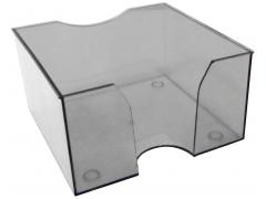 Подставка для бумажного блока 9х9х5, прозрачная, арт.045000500