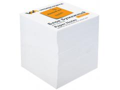 Бумажный блок 8х8х8, офсет, в термопленке, белый, арт. 003003400