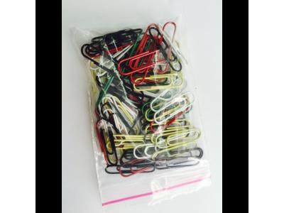 Скрепки 26мм, овальные, цветные ассорти, в полиэтилен. уп., 70шт