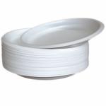 Тарелка пластиковая d=205мм , односекционная ПС 100шт./уп.