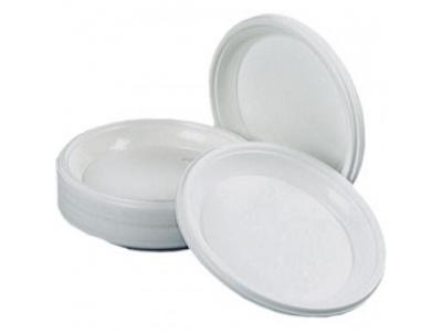 Тарелка пластиковая d=165мм , односекционная ПС 100шт./уп.