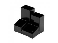 Подставка для канц. принадлежностей ЮНИОР, черная