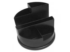 Подставка для канц. принадлежностей, круглая, черная, арт. SS01