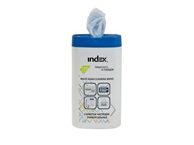 Салфетки чистящие для пластика, 100шт, экономичная упаковка, арт. ICCW01100M
