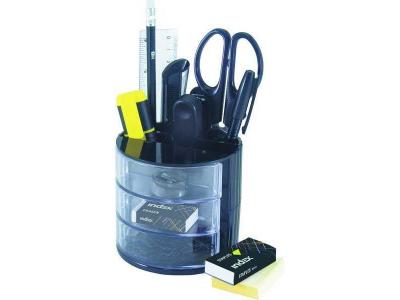 Офисный набор канц.принадлежностей DAX, 12 предметов, цвет черный, арт. IS305/BK